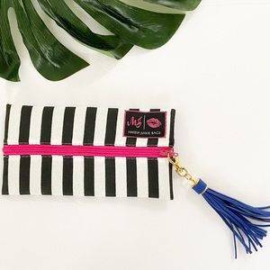 Makeup Junkie The Glam Stripe Bag with Blu…